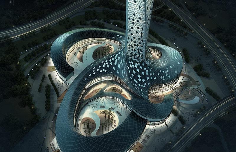 土耳其伊斯坦布尔350米超高层综合楼